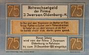 75 Pfennig (I. Iwersen) – obverse