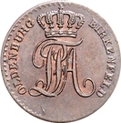 1 Pfennig - Paul Friedrich August – obverse