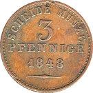 3 Pfennige - Paul Friedrich August – reverse