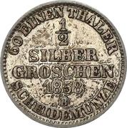 ½ Silbergroschen - Paul Friedrich August – reverse
