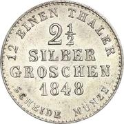 2½ Silber Groschen - Paul Friedrich August – reverse