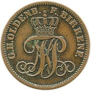 2 Pfennige - Paul Friedrich August – obverse