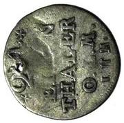 1/24 Thaler - Fredrik V of Denmark – reverse