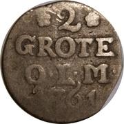 2 Grote - Friedrich V. von Dänemark – reverse