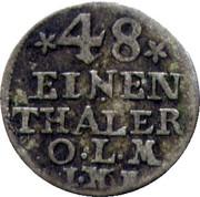 1/48 Thaler - Friedrich V of Denmark – reverse