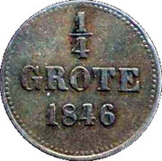 ¼ Grote - Paul Friedrich August – reverse
