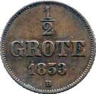 ½ Grote - Nicolaus Friedrich Peter – reverse