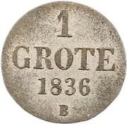 1 Groten - Paul Friedrich August – reverse