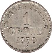 1 Grote - Peter Friedrich Wilhelm – reverse