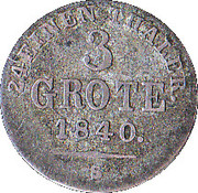 3 Grote - Paul Friedrich August – reverse