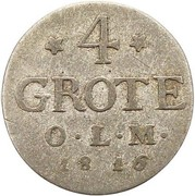 4 Grote - Peter Friedrich Wilhelm – reverse