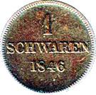 1 Schwaren - Paul Friedrich August – reverse