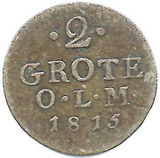 2 Grote - Peter Friedrich Ludwig – reverse