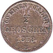 ½ Groschen - Nicolaus Friedrich Peter – reverse