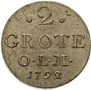 2 Grote - Peter Friedrich Wilhelm – reverse