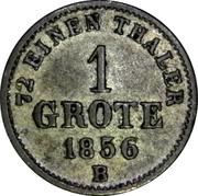 1 Grote - Nikolaus Friedrich Peter – reverse
