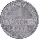 1 Groschen - Nicolaus Friedrich Peter – reverse