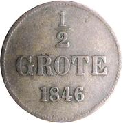 ½ Grote - Paul Friedrich August – reverse
