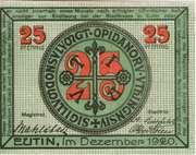 25 Pfennig (Eutin) – obverse
