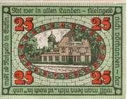 25 Pfennig (Eutin) – reverse