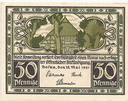 50 Pfennig (Bosau) – obverse