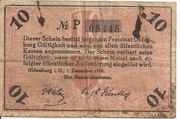 10 Pfennig (Oldenburg; Handelskammer) – reverse
