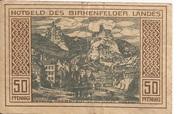 50 Pfennig (Land Birkenfeld) – reverse