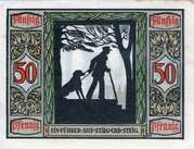 50 Pfennig (Oldenburg; Deutscher Verein für Sanitätshunde) – reverse