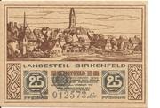 25 Pfennig (Land Birkenfeld) – obverse