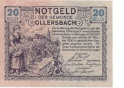 20 Heller (Ollersbach) – obverse