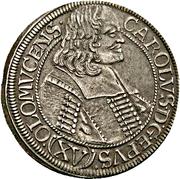 15 Kreuzer - Karl II von Liechtenstein-Kastelkorn – obverse