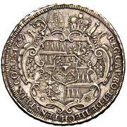½ Thaler - Jakob Ernst von Liechtenstein-Kastelkorn – reverse