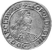 15 Kreuzer - Leopold Wilhelm von Österreich – obverse