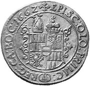 15 Kreuzer - Leopold Wilhelm von Österreich – reverse