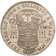 10 Kreuzer - Anton Theodor of Colloredo-Waldsee – reverse