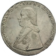 1 Thaler - Rudolph Johann – obverse