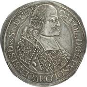 1 Thaler - Karl II von Liechtenstein-Kastelkorn – obverse