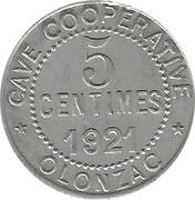 5 Centimes (Olonzac) – obverse