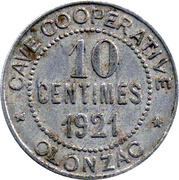 10 Centimes (Olonzac) – obverse