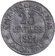 25 Centimes (Olonzac) -  obverse