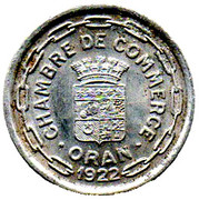 25 Centimes (Oran Chamber of Commerce) – obverse