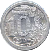 10 Centimes (Oran Chamber of Commerce) – reverse