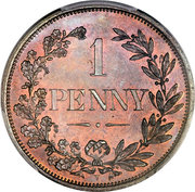 1 Penny (Orange Free State) – reverse
