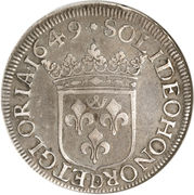 Écu - Guillaume IX – reverse