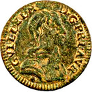 Denier Tournois - Guillaume IX (2nd type) – obverse