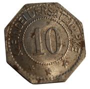 10 Pfennig - Oschersleben – reverse