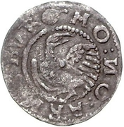1 Schilling - Magnus (Arensburg; four-sectioned shield) – reverse