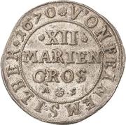 12 Mariengroschen - Ernst August I. – reverse