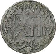 12 Pfennig (Domkapitel) – reverse
