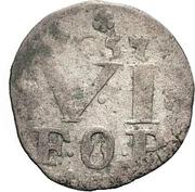6 Pfennig - Franz Wilhelm von Wartenberg – reverse